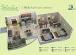Mega Polis Hinewadi, resale 2bhk Flat- Splendour Smart Homes Floor Plan